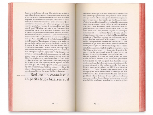 Gilbert Sorrentino Red le démon Éditions cent pages Chapitre XVIII