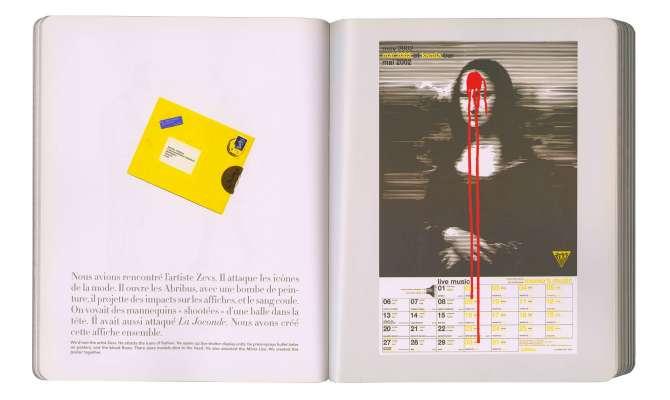 page intérieure du livre IK diary at momo's poster joconde