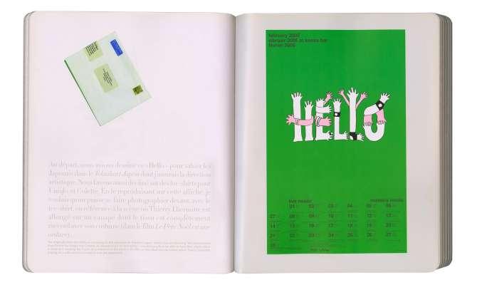 double page du livre IK diary at momo's poster Hello dessiné par Helena ichbiah