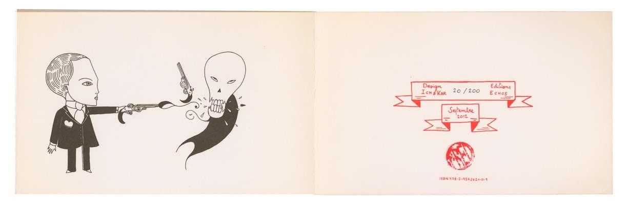 trois livres en éditions limitée de l'artiste fred le chevalier