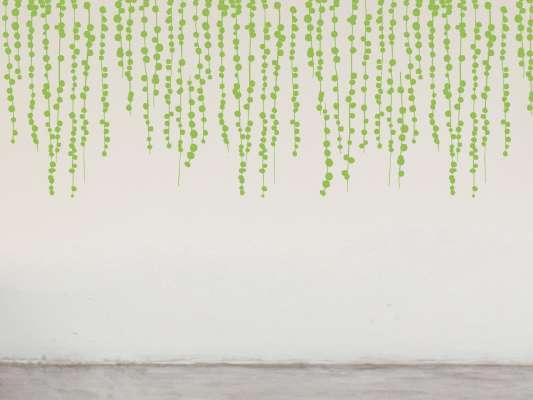 Guirlande de Pompon ou vigne sous la neige à faire dégouliner des plafonds comme des herbes grimpantes, design IchetKar