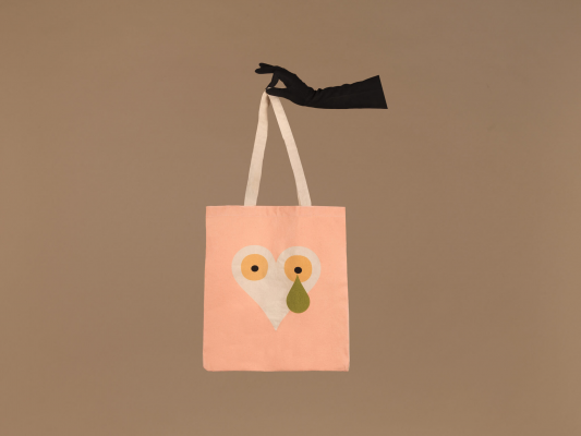 tote bag illustré pour la saint valentin