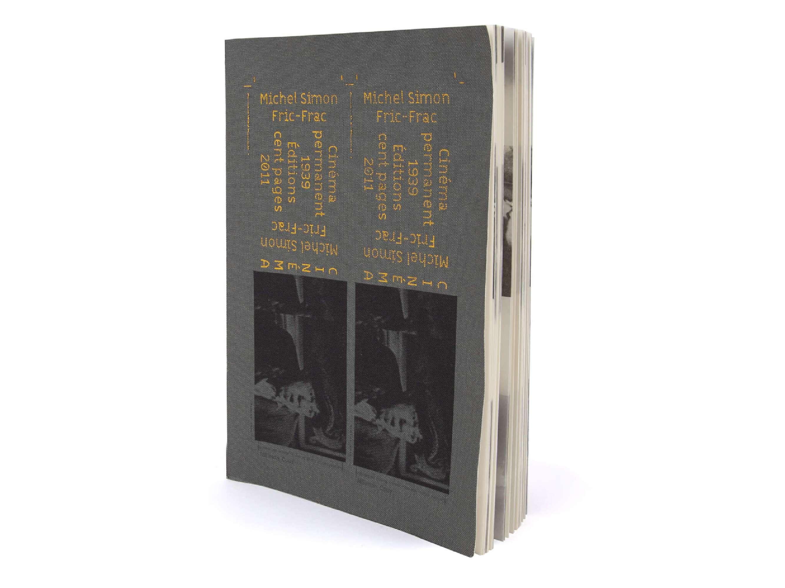un carnet graphique fabriqué artisanalement par Olivier Gadet à partir du livre objet fric-frac des éditions Cent pages