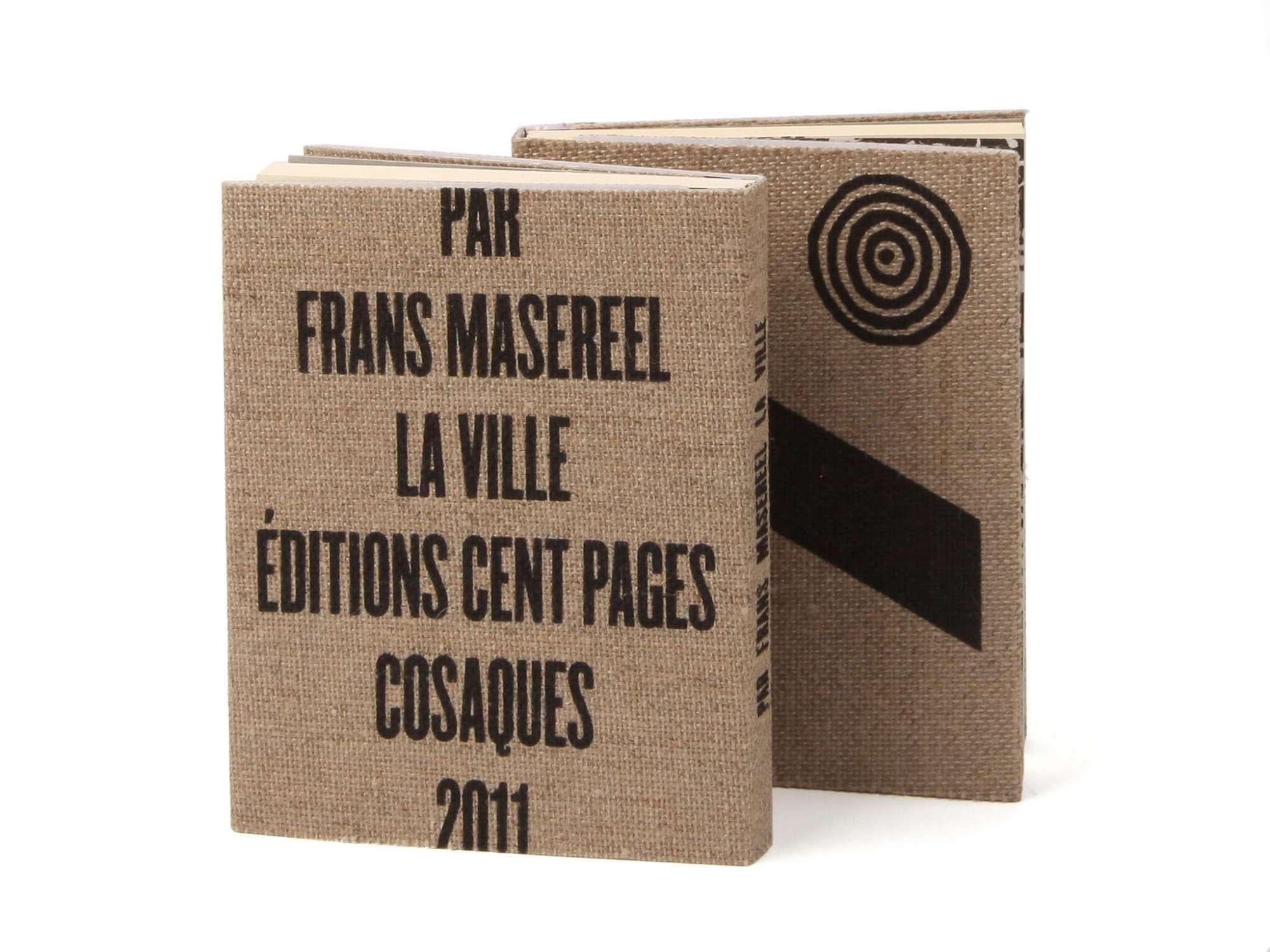 Frans Masereel La Ville Éditions cent pages Collection Cosaques Jaquette sérigraphie sur toile bois gravé