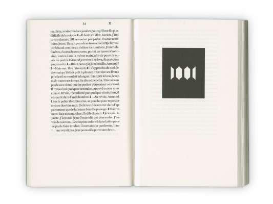 Intérieur du roman des éditions Cent Pages écrit par Emmanuel Bove