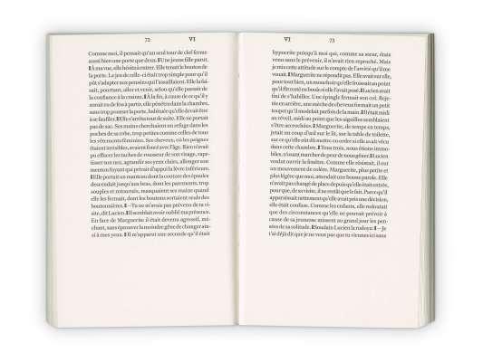 Intérieur du roman d'Emmanuel Bove, Armand, aux édition Cent Pages
