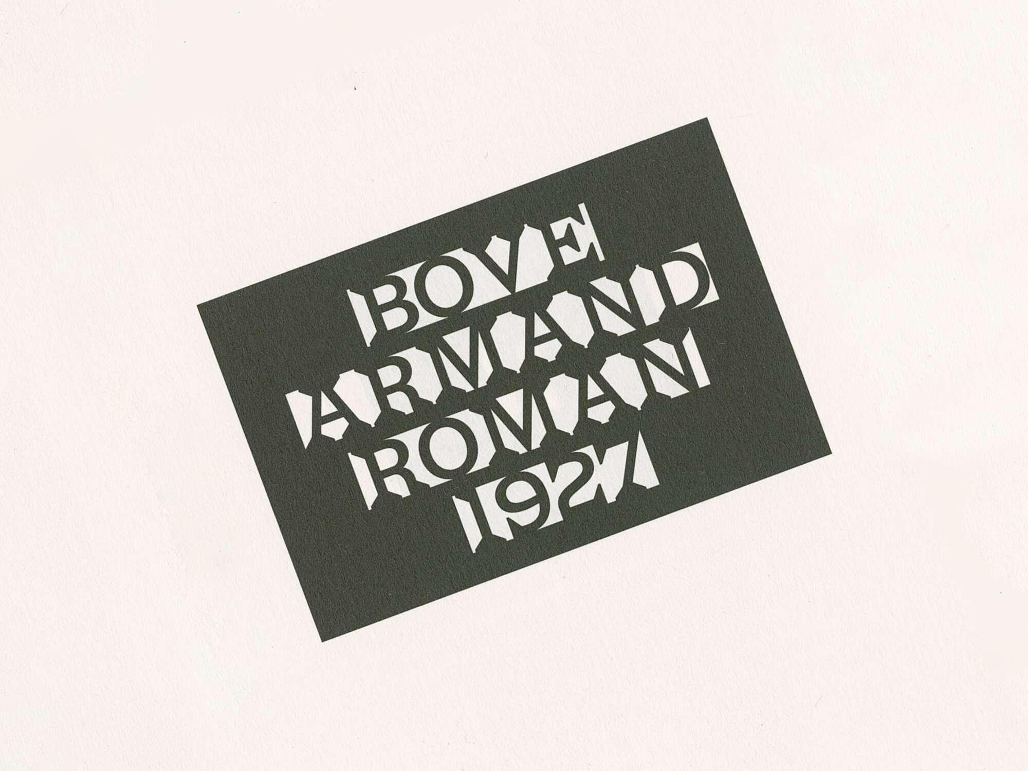 Zoom de la couverture de du roman Armand d'Emmanuel Bove